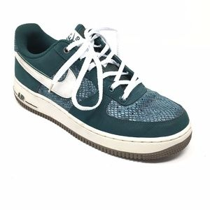 Men's Nike Air Force 1 Green Snake Shoes Size 6.5